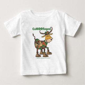 Camouflauge Stier Baby T-shirt