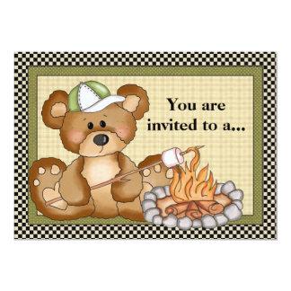 Campings-Bärn-Familien-Wiedersehen-Einladung 12,7 X 17,8 Cm Einladungskarte