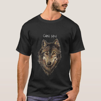 Canis Lupis Aquarell-Wolf, Wölfe, wildes Tier T-Shirt