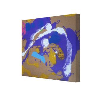Canvas mit der Abstrata Malerei in Papelão. Leinwanddrucke