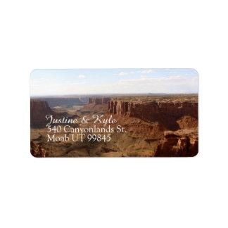 Canyonlands Paar-Adressen-Etikett Adressaufkleber
