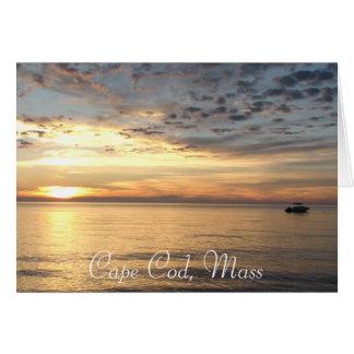 """Cape Cod, Mass.-Ozean-Sonnenuntergang """", der denkt Karte"""