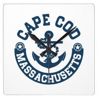 Cape Cod Massachusetts Quadratische Wanduhr