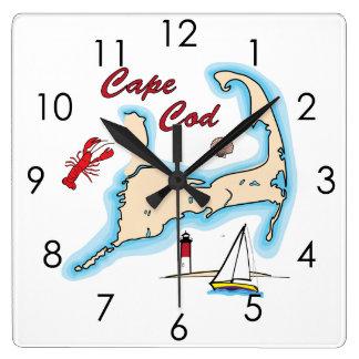 Cape- Quadratische Wanduhr