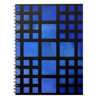 Cappanella V1 - blaue Quadrate Spiralblock