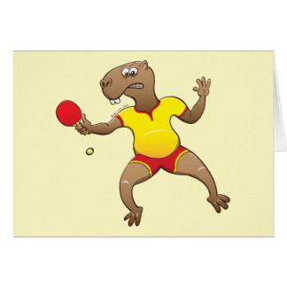 Capybara, der Tischtennis spielt Karte