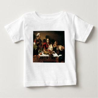Caravaggio - Abendessen bei Emmaus - klassische Baby T-shirt