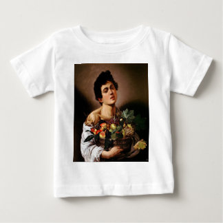 Caravaggio - Junge mit einem Korb der Baby T-shirt