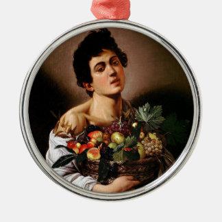 Caravaggio - Junge mit einem Korb der Silbernes Ornament
