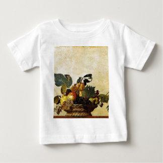 Caravaggio - Korb der Frucht - klassische Grafik Baby T-shirt