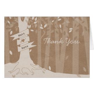Cardstock inspirierte Waldhochzeit danken Ihnen Karte