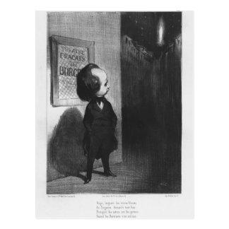 """""""Caricatures du Jour"""", Karikatur von Victor Hugo Postkarte"""
