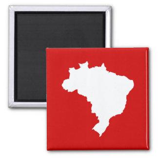 Carnaval rotes festliches Brasilien bei Emporio Quadratischer Magnet