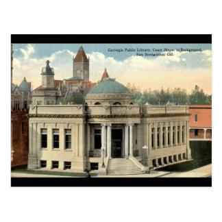Carnegie-Bibliothek San Bernardino CA Vintages Postkarte