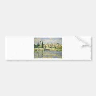 Carrieres-Heilig-Denis durch Claude Monet Autoaufkleber
