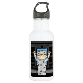 Cartoon entgangener Gefangener Trinkflaschen