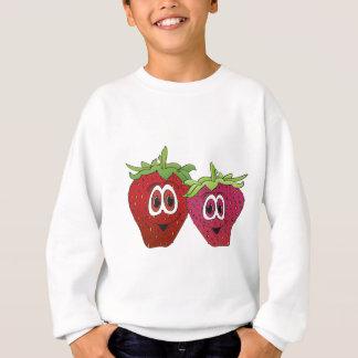 Cartoon-Erdbeeren Sweatshirt