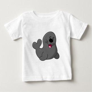 Cartoon-Grau-Siegel Baby T-shirt