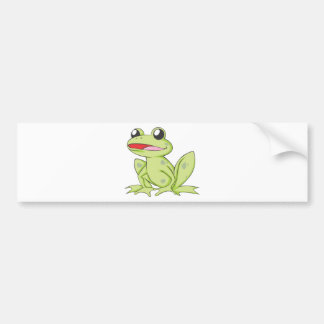 Cartoon-grüner Stier-Frosch Autoaufkleber