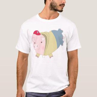 Cartoon-Herz-Schwein jugendlich T-Shirt