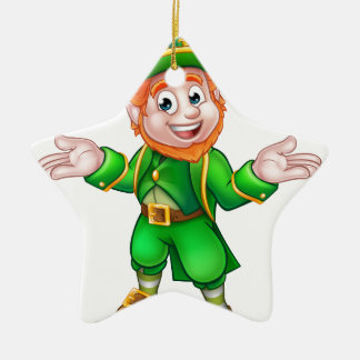 Cartoon-Kobold St. Patricks Tages Keramik Stern-Ornament
