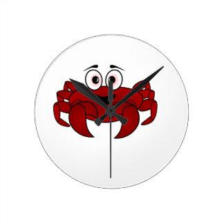 Cartoon-Krabbe Runde Wanduhr