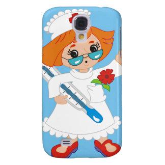 Cartoon-Krankenschwester Galaxy S4 Hülle