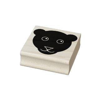 Cartoon-Panther-Gesichts-Gummi-Briefmarke Gummistempel