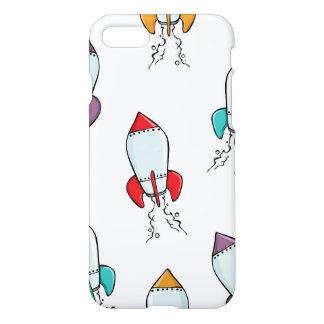 Cartoon-Rocket-Schiffs-Muster iPhone 8/7 Hülle