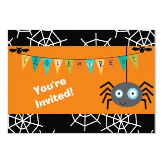 Cartoon-Spinne Halloween scherzt Party 8,9 X 12,7 Cm Einladungskarte