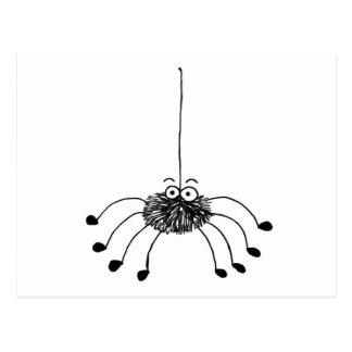 Cartoon-Spinne Postkarten