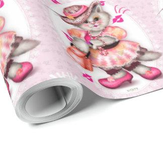 "CARTOON Verpackungs-Papier 30"" MADAME-CAT 2 x 30' Geschenkpapier"