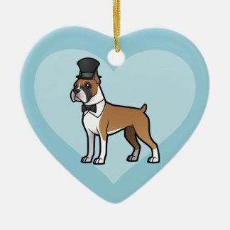 Cartoonize mein Haustier Keramik Herz-Ornament