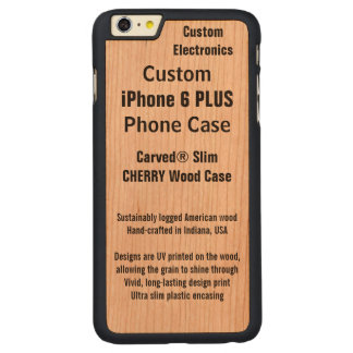 CARVED® CHERRY iPhone 6 PLUS HÜLLE