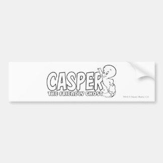 Casper das freundliche Geist-Logo 2 Autoaufkleber