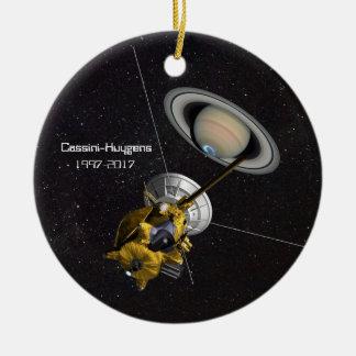 Cassini Huygens Auftrag zu Saturn Rundes Keramik Ornament