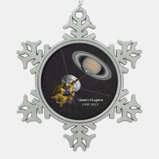 Cassini Huygens Auftrag zu Saturn Schneeflocken Zinn-Ornament
