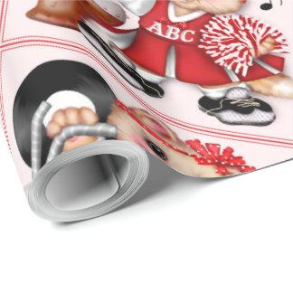 """Cat-CHEERLEADER 30"""" x 30' CARTOON Geschenkpapier"""