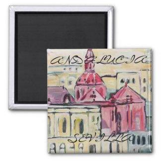 Cathedral_Sevilla, SEVILLA, ANDALUSIEN Quadratischer Magnet