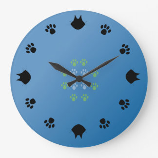 Cats&paws Große Wanduhr