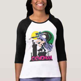 Catwoman u. Logo-Rosa T-Shirt