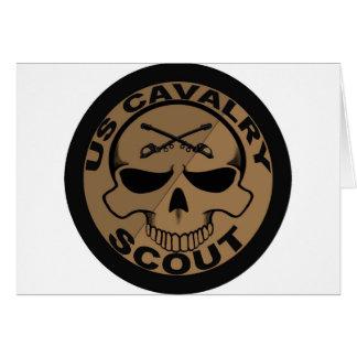 Cav Pfadfinder-Schädel-Schwarzes und Gold Karte