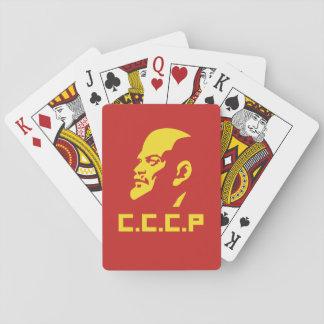 CCCP Lenin Porträt-Poker-Spielkarten Spielkarten