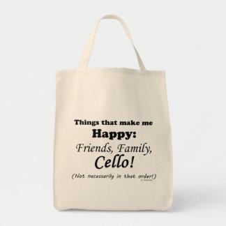 Cello macht mich glücklich einkaufstasche