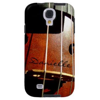 Cello-Spieler-personalisierter Galaxie-Kasten Galaxy S4 Hülle