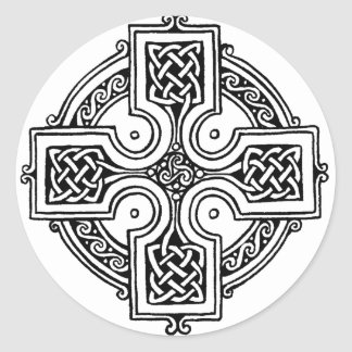 Celtic cross pattern runder aufkleber