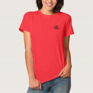 Celtic-Triskele gesticktes Polo-Shirt Besticktes T-Shirt