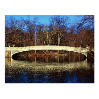 Central Park Bogen-Brücken-Foto Postkarte