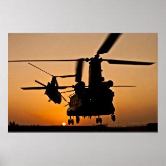 CH-47 CHINOOK HUBSCHRAUBER-PLAKAT POSTER
