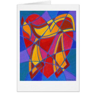 Chai-Mosaik IV Grußkarte